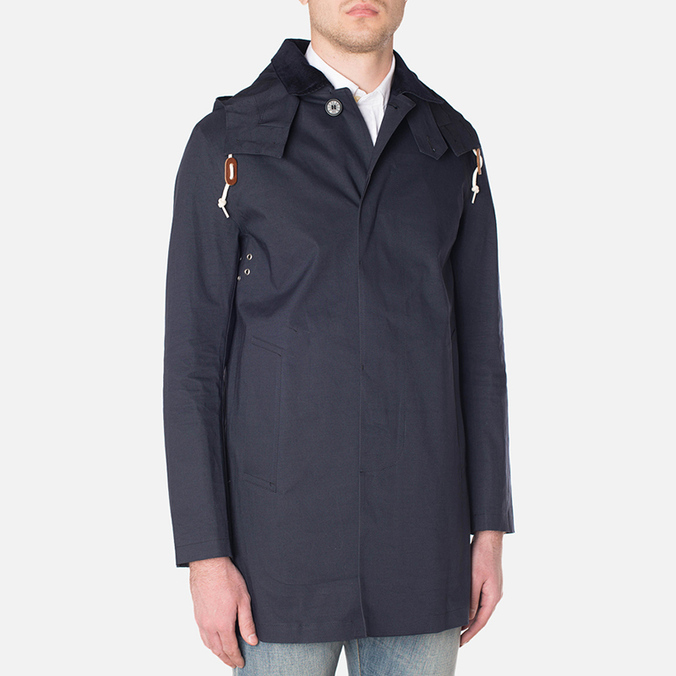 Mackintosh Dunoon Hood Winter Coat Navy