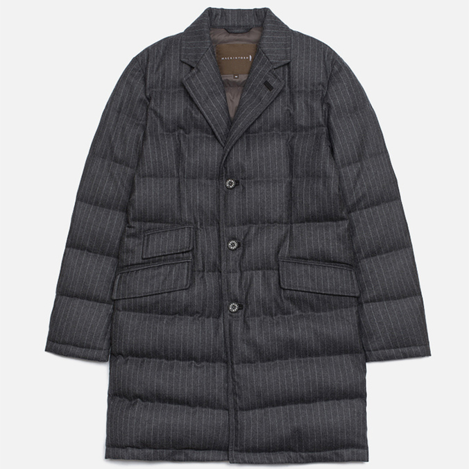 Мужское пальто Mackintosh Stewarton Grey Stripe