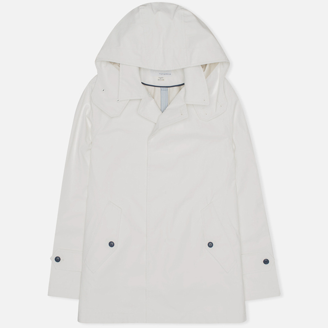 Мужской плащ Nanamica GORE-TEX Short Soutien Collar Off White