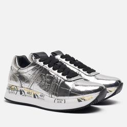 Женские кроссовки Premiata Conny 4818 Silver/White