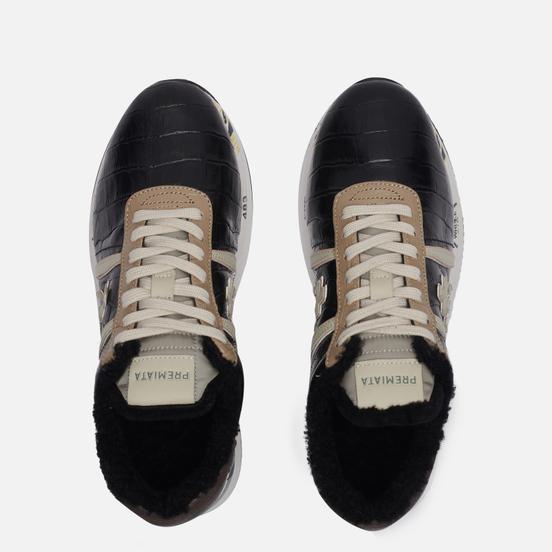Женские кроссовки Premiata Conny 5516 Black/Grey