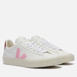 Женские кроссовки VEJA Campo Chromefree Leather Extra White/Guimauve Marsala