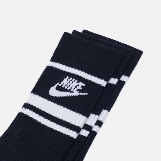 Комплект носков Nike 3-Pack Essential Stripe Black/White
