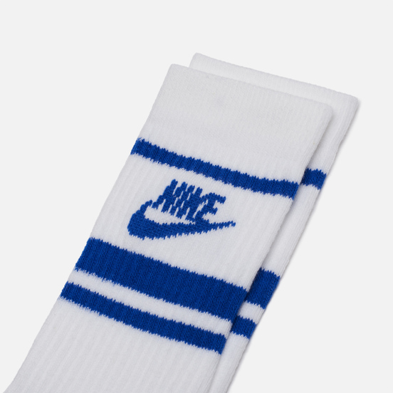 Комплект носков Nike 3-Pack Essential Stripe White/Game Royal/Game Royal
