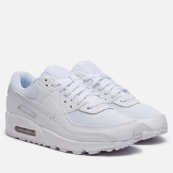 Женские кроссовки Nike Air Max 90 White/White/White/Wolf Grey