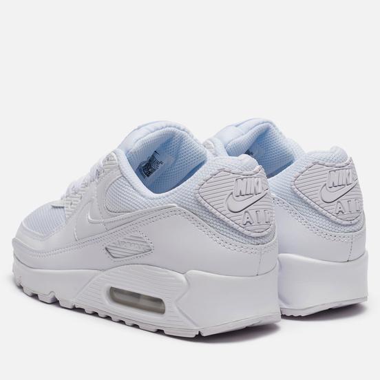 Женские кроссовки Nike Air Max 90 White/White/White/Wolf Grey
