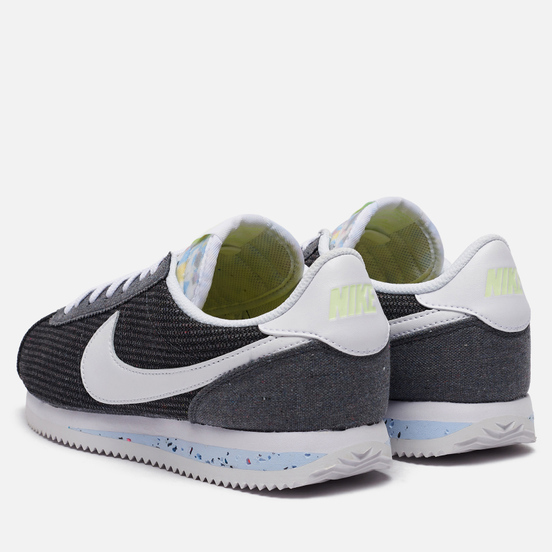 Мужские кроссовки Nike Cortez Basic Premium Recycled Canvas Iron Grey/White/Barely Volt