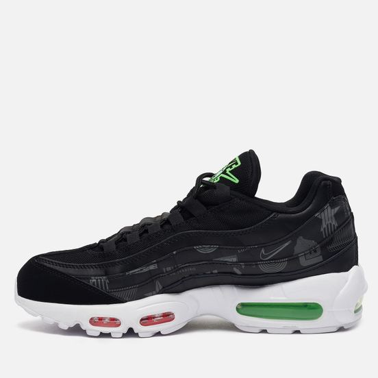 Мужские кроссовки Nike Air Max 95 Worldwide Pack Black/White/Green Strike/Flash Crimson