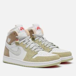 Кроссовки Jordan Wmns Air Jordan 1 Zoom Air CMFT White/Grey Heather/Olive Aura/Khaki
