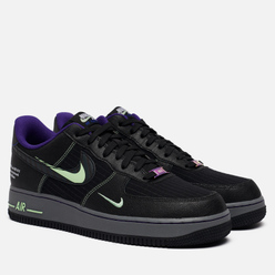Мужские кроссовки Nike Air Force 1 07 LV8 Future Swoosh Pack Black/Cool Grey/Vapor Green/Racer Blue