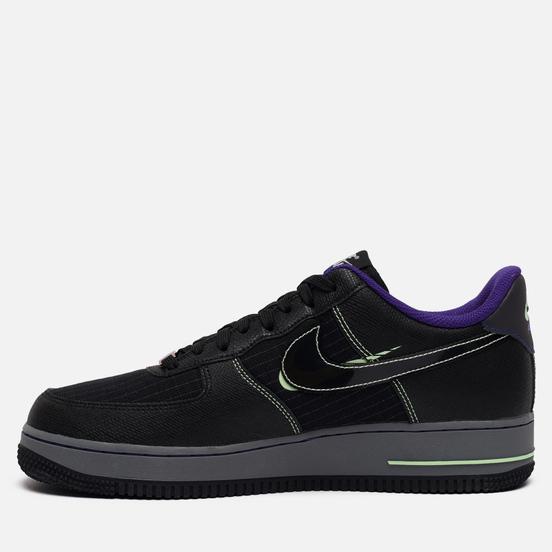 Мужские кроссовки Nike Air Force 1 07 LV8 Future Swoosh Pack Black/Cool Grey/Vapor Green/Racer Blue