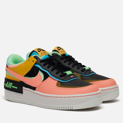 Женские кроссовки Nike Air Force 1 Shadow SE Solar Flare/Atomic Pink/Balightic Blue