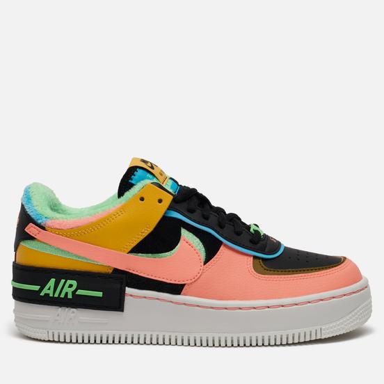 Женские кроссовки Nike Air Force 1 Shadow SE Solar Flare/Atomic Pink/Balightic Blue