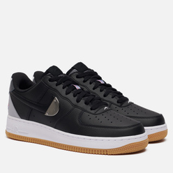 Мужские кроссовки Nike x NBA Air Force 1 07 LV8 Black/Black/Wolf Grey/Dark Grey