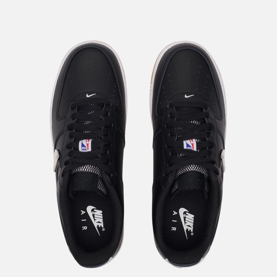 Кроссовки Nike x NBA Air Force 1 07 LV8 Black/Black/Wolf Grey/Dark Grey