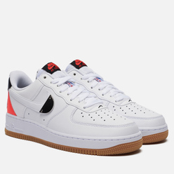 Мужские кроссовки Nike x NBA Air Force 1 07 LV8 White/White/Bright Crimson/Black