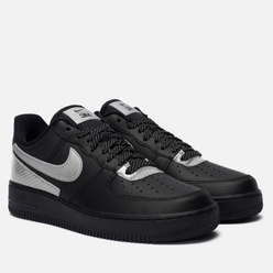 Кроссовки Nike x 3M Air Force 1 07 LV8 Black/Metallic Silver/Black