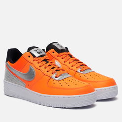 Кроссовки Nike x 3M Air Force 1 07 LV8 Total Orange/Metallic Silver/Black