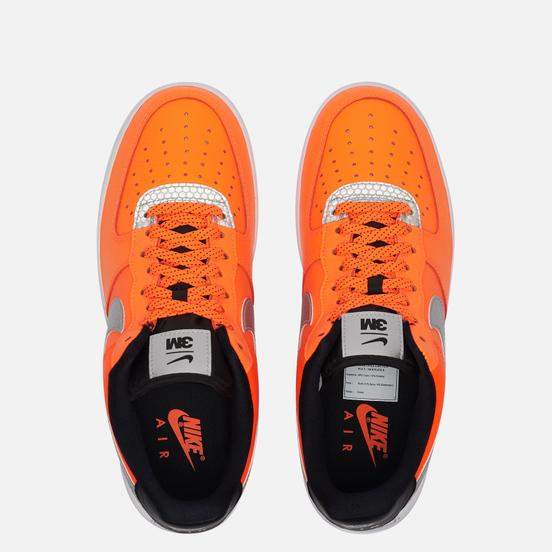 Кроссовки Nike x 3M Air Force 1 07 LV8 Total Orange/Metallic Silver/Black