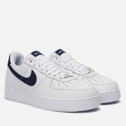 Мужские кроссовки Nike Air Force 1 07 Craft White/Obsidian/White