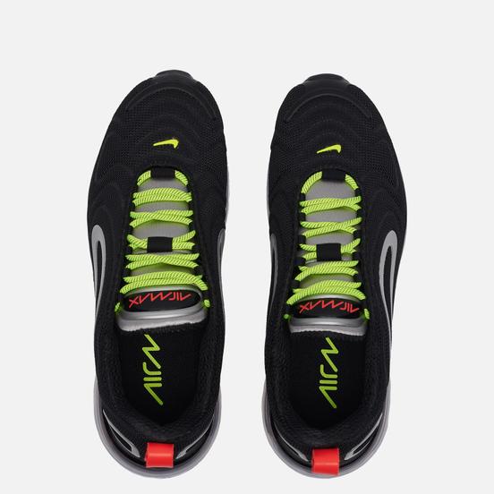 Женские кроссовки Nike Air Max 720 Black/Metallic Silver/Medium Violet/Volt