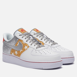Мужские кроссовки Nike Wmns Air Force 1 07 Dots And Stars White/Metallic Silver/Metallic Gold