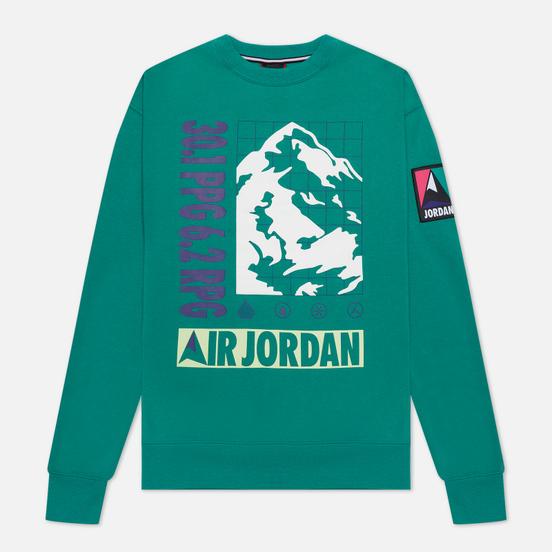 Мужская толстовка Jordan Mountainside Fleece Crew Neptune Green