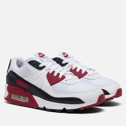 Мужские кроссовки Nike Air Max 90 White/White/New Maroon/Black