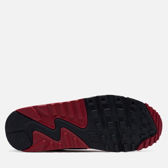 Мужские кроссовки Nike Air Max 90 White/White/New Maroon/Black