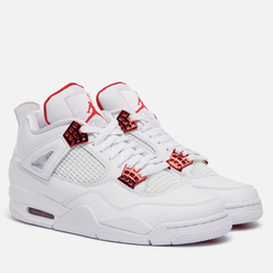 Мужские кроссовки Jordan Air Jordan 4 Retro Metallic Red White/University Red/Metallic Silver