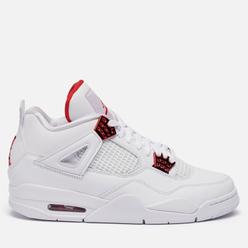 Мужские кроссовки Jordan Air Jordan 4 Retro Metallic Red White/University Red/Metallic Silver