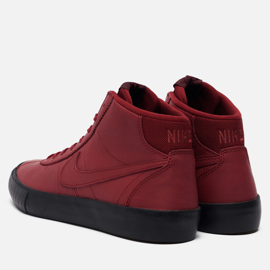 Мужские кроссовки Nike SB x Leo Baker Bruin High ISO Team Red/Night Maroon/Black