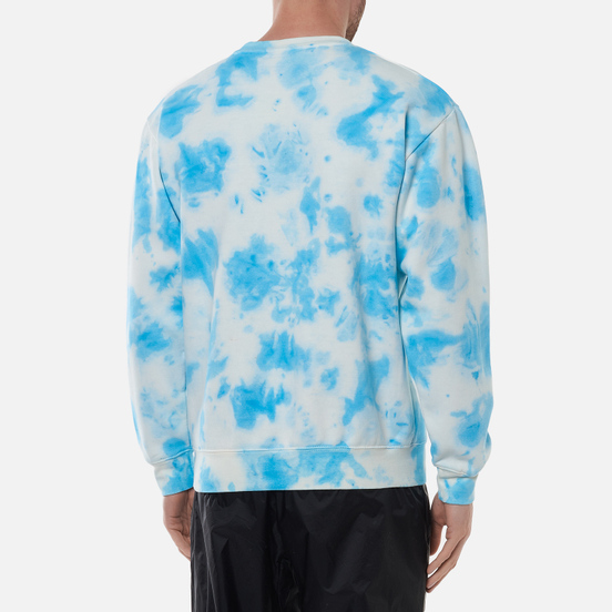 Мужская толстовка Chinatown Market Hypercute Crew Neck Blue Tie Dye