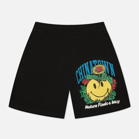 Мужские шорты Chinatown Market Smiley Planter, цвет чёрный, размер M