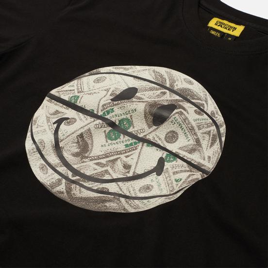 Мужская футболка Chinatown Market Smiley Money Line Ball Black