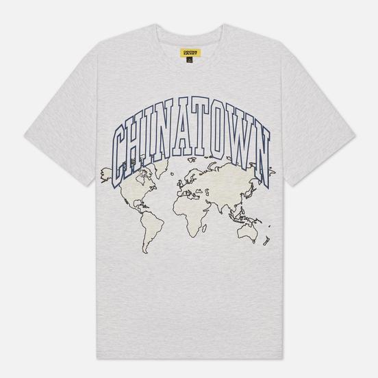 Мужская футболка Chinatown Market Global Citizen Heat Map Uv Arc Ash Grey