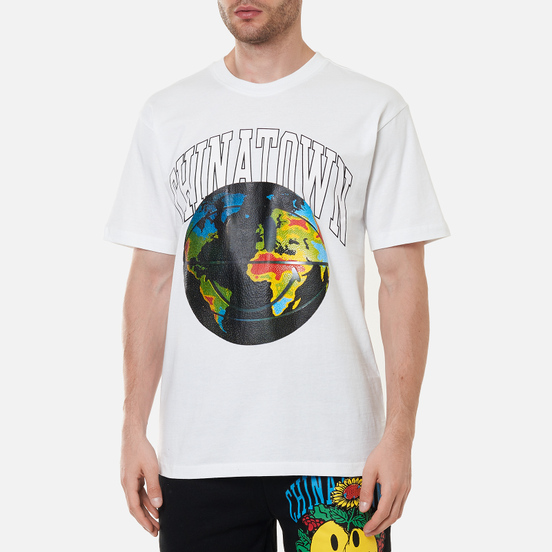 Мужская футболка Chinatown Market Smiley Global Citizen Heat Map Bball White