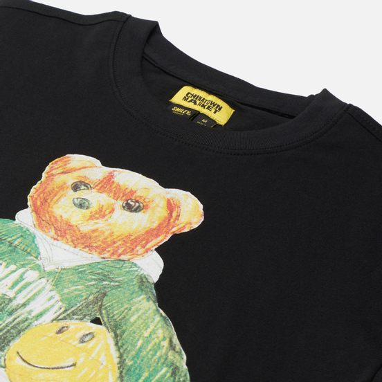 Мужская футболка Chinatown Market Smiley Sketch Basketball Bear Black