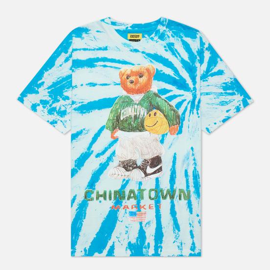 Мужская футболка Chinatown Market Smiley Sketch Basketball Bear Tie Dye