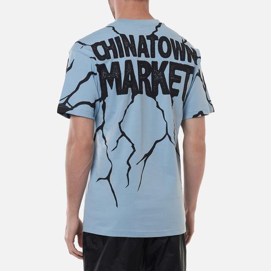 Мужская футболка Chinatown Market Smiley Dry Wall Breaker Blue