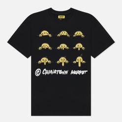 Мужская футболка Chinatown Market Smiley Wuz Here Black