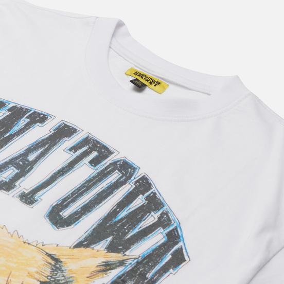 Мужская футболка Chinatown Market Beware Sketch White