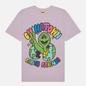 Мужская футболка Chinatown Market Earth Friends Purple фото - 0