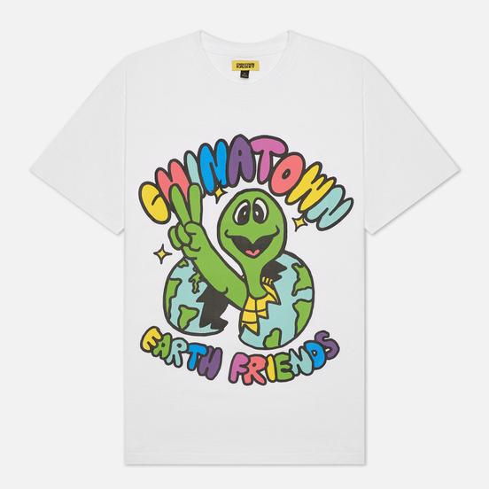 Мужская футболка Chinatown Market Earth Friends White