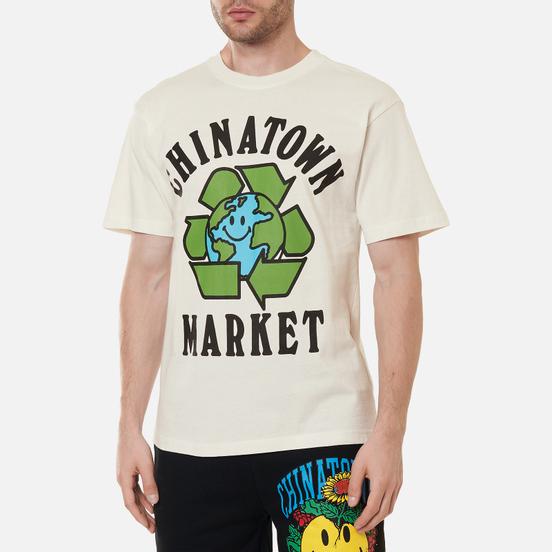 Мужская футболка Chinatown Market Recycle Global Cream