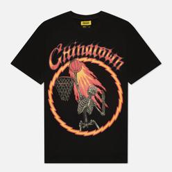 Мужская футболка Chinatown Market Skelly World Tour Black