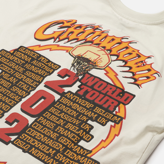 Мужская футболка Chinatown Market Skelly World Tour Cream