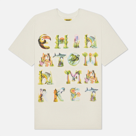 Мужская футболка Chinatown Market Watercolor Sea Creatures, цвет бежевый, размер M