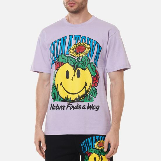 Мужская футболка Chinatown Market Smiley Planter Purple