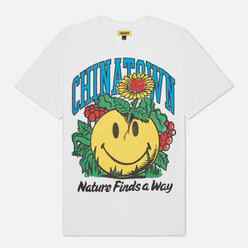 Мужская футболка Chinatown Market Smiley Planter White